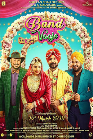 Poster Of Punjabi Movie Band Vaaje 2019 Full HD Movie Free Download 720P Watch Online