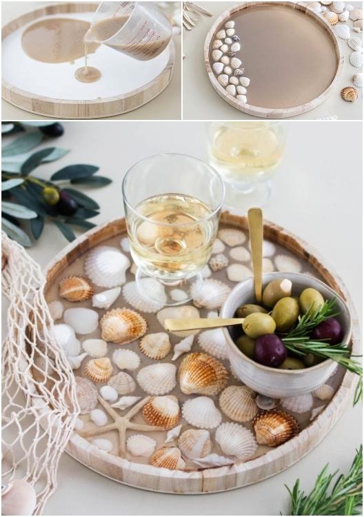 DIY Seashell Resin Tray