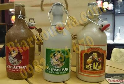 Hình ảnh thực tế: chai bia Sứ St.Sebastiaan Grand Cru 500 ml - 6,9 % và két 6 chai