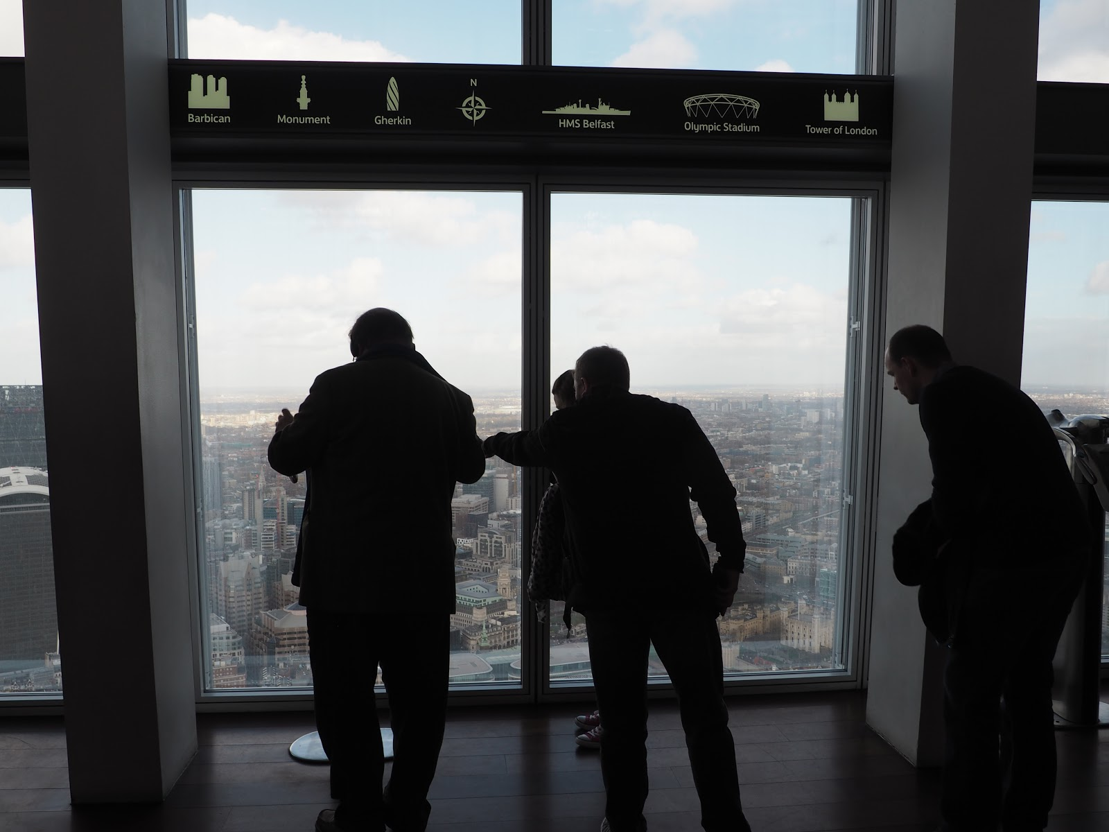 People at the view from the Shard, London