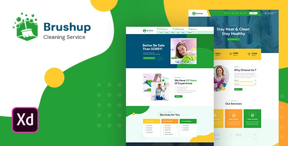 Brushup Adobe XD Template