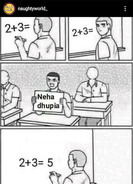 Neha dhupiya bf memes