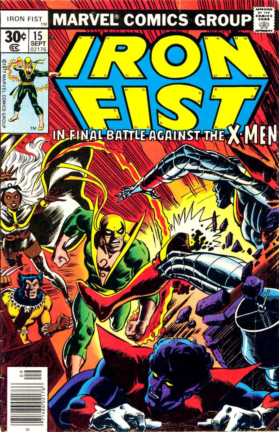 Iron Fist v1 #15 x-men bronze age marvel comic book cover art by Dave Cockrum