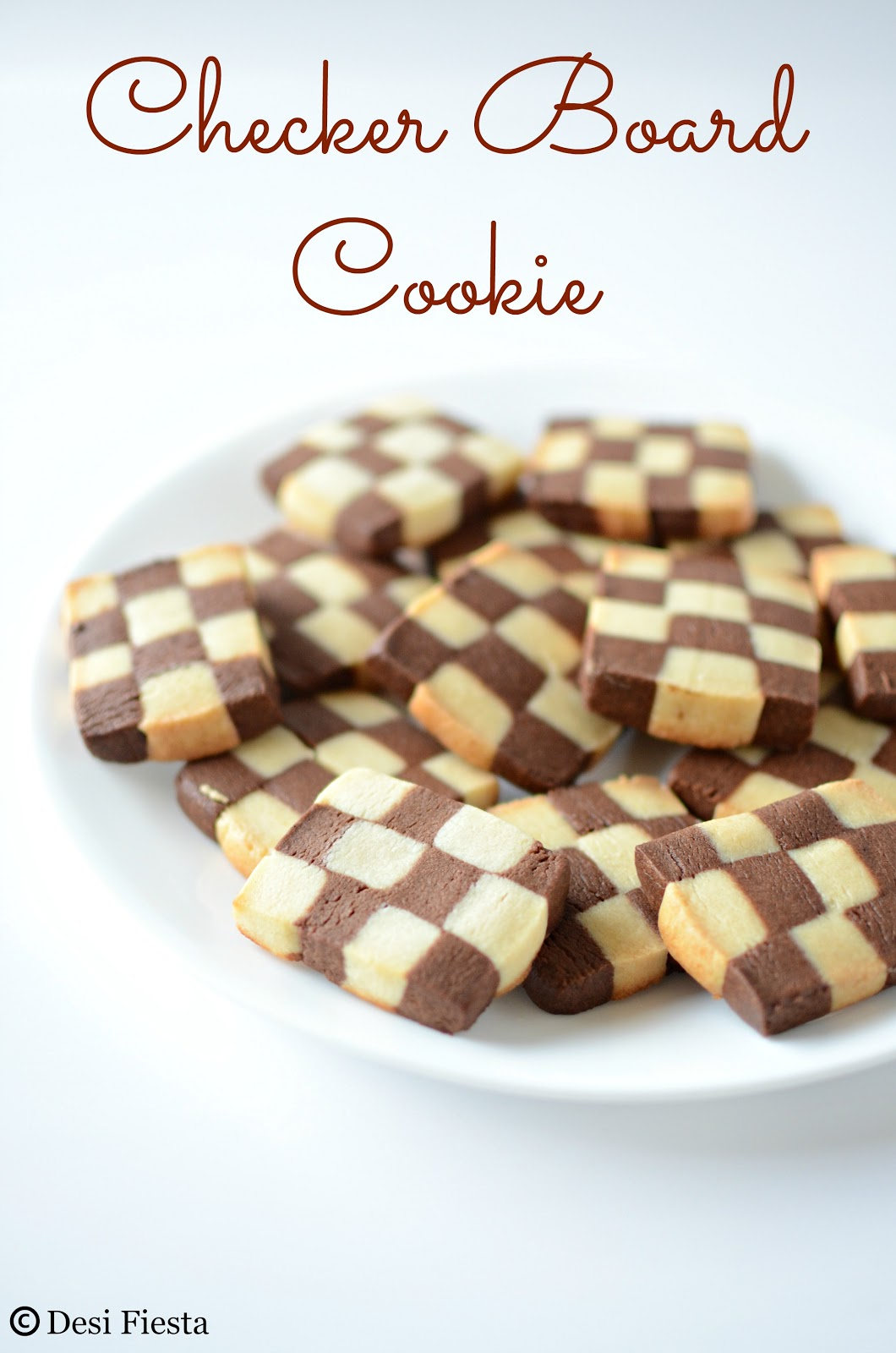 vanilla chocolate checkerboard cookie