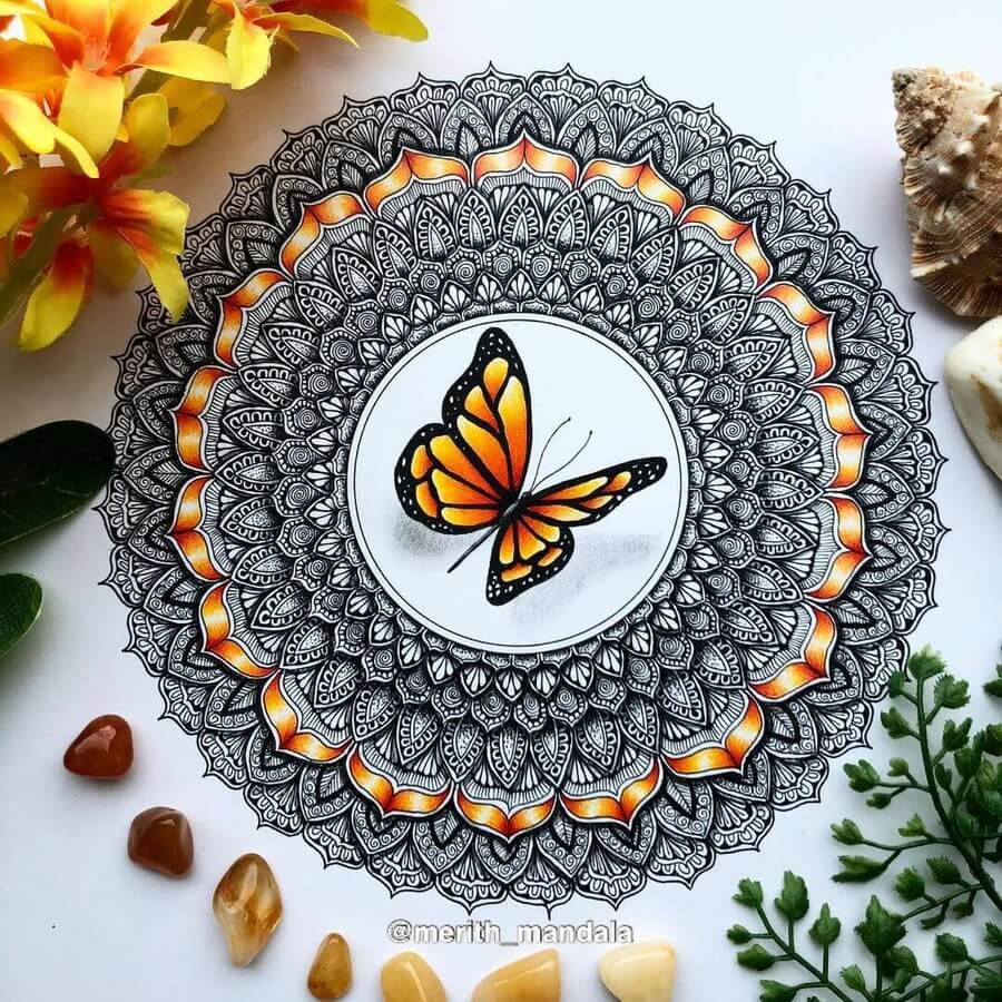 04-Mandala-and-butterfly-Merith-www-designstack-co