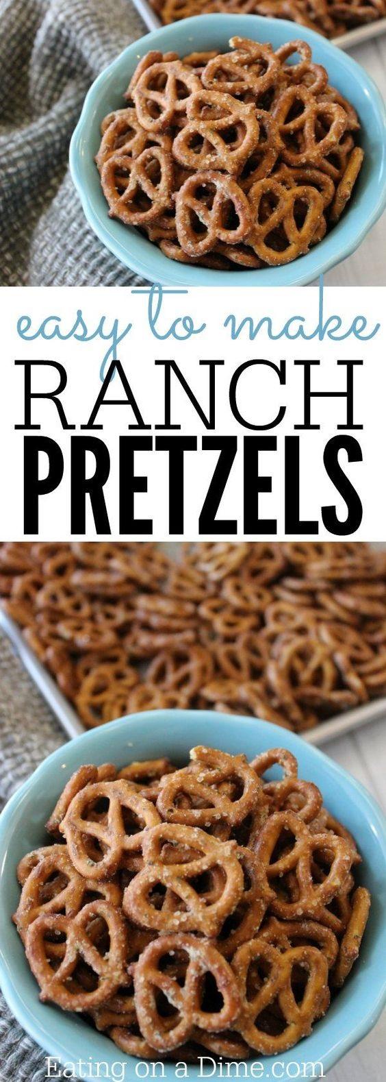 Garlic Ranch Pretzels Recipe - Easy Seasoned Pretzels
