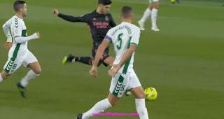 ريال مدريد يفقد نقطتين بالتعادل امام  إلتشي بالدوري الاسباني