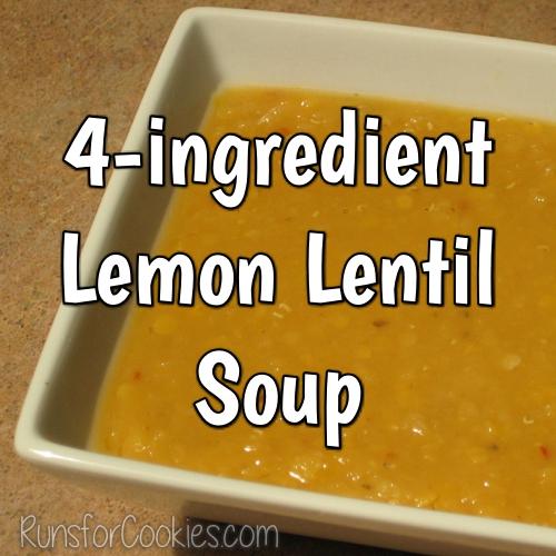 4 Ingredient Lemon Lentil Soup