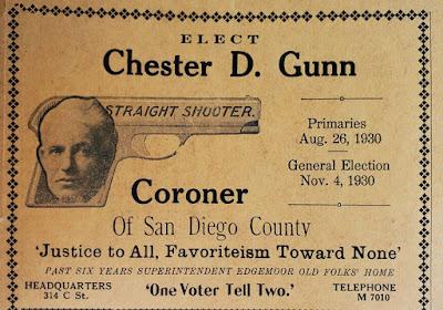 Elect Chester D Gunn Coroner