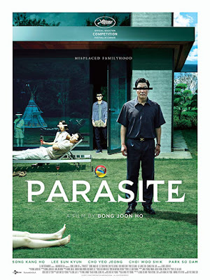 Movie poster for Bong Joon Ho's 2019 Palme d'Or winner from South Korea, Parasite