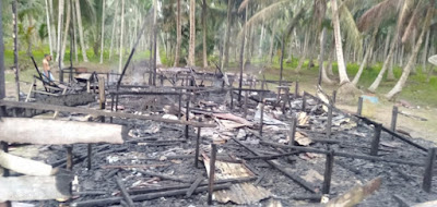 Hangus Terbakar, 1 Rumah di Kuala Jambi Rata dengan Tanah