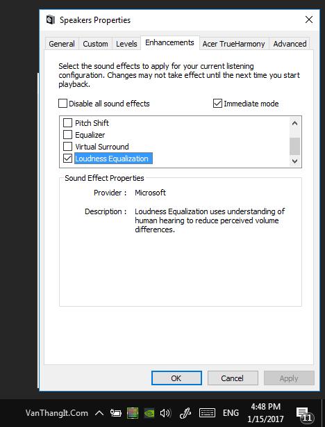 Tăng âm lượng cao nhất trên windows 10 không cần phần mềm