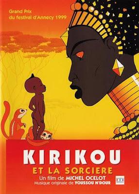 Cartel original de la película Kiriku y la bruja presentada en el festival de Annecy
