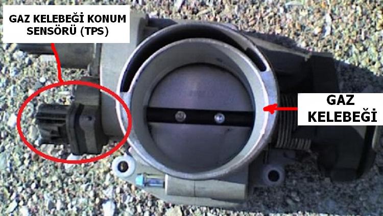 Gaz Kelebeği Konum Sensörü (TPS) yeri