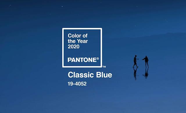 Pantone classic blue cor do ano 2020
