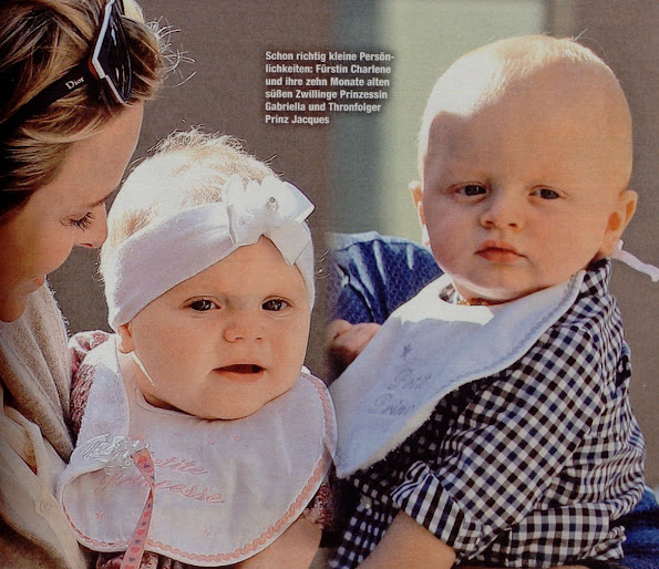 "German ""Die Aktuelle"" magazine published some photos of Princess Charlene and twins Princess Gabriella & Prince Jacques of Monaco on the island of Corsica."