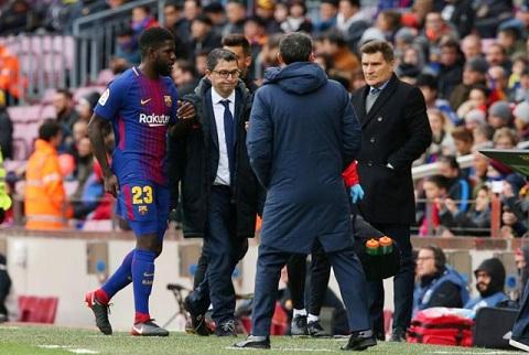 Umtiti đang là trung vệ quan trọng nhất của Barca