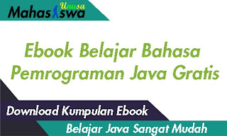 ebook belajar bahasa pemrograman java