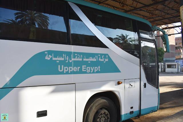 Autobús local en Egipto