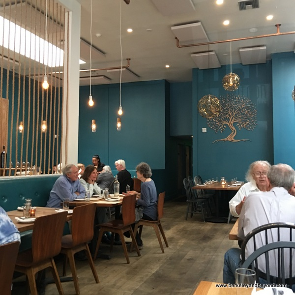 colorful dining room at Zaytoon Mediterranean Restaurant & Bar in Albany, California
