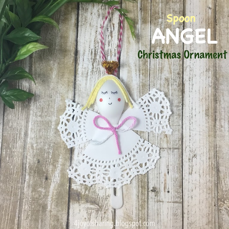 Christmas Crafts, Christmas Ornaments, Christmas Angel, Spoon craft, angel craft, christmas ornament craft, doily craft, Kids craft, crafts for kids, craft ideas, kids crafts, craft ideas for kids, paper craft, art projects for kids, easy crafts for kids, fun craft for kids, kids arts and crafts, art activities for kids, kids projects, art and crafts ideas. toddler crafts, toddler fun, preschool craft ideas, kindergarten crafts, crafts for young kids
