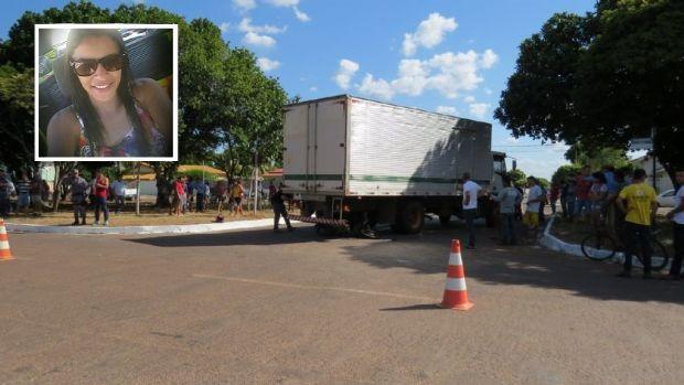 Garota de 21 anos morre após ser atropelada por caminhão no interior