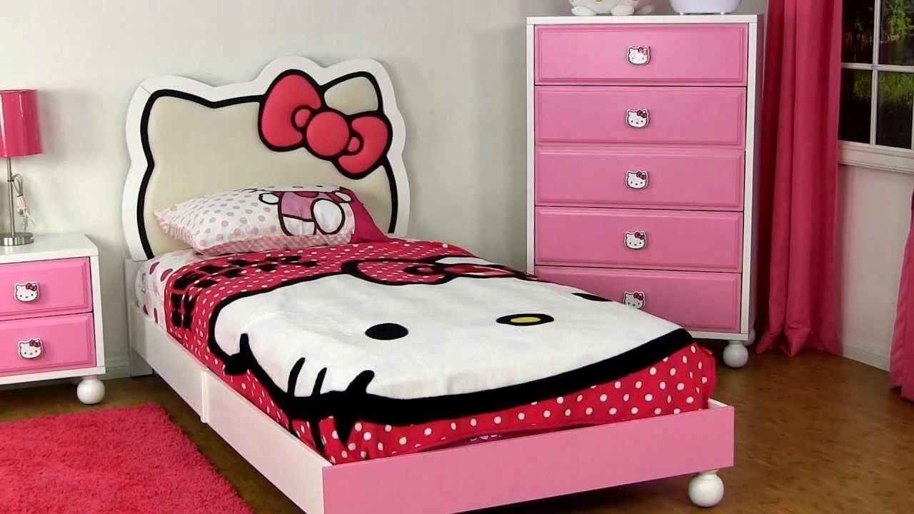Desain Kamar Tidur Anak Perempuan Dengan Hello Kitty