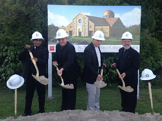 Groundbreaking ceremony for new church