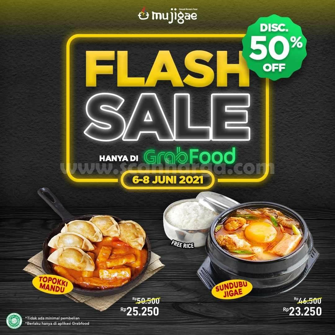 Promo Mujigae Flash Sale Diskon hingga 50% melalui Grabfood