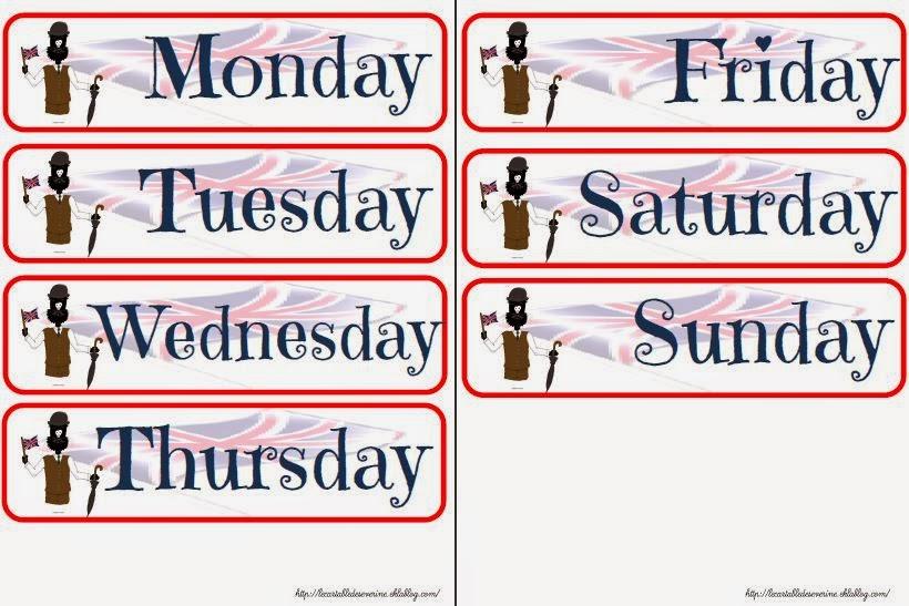 Assez calendrier anglais BN95
