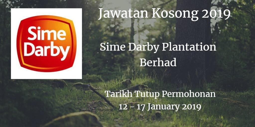 Jawatan Kosong Sime Darby Plantation Berhad 12 - 17 January 2019