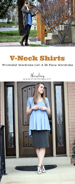 V-Neck Shirts (Minimalist Wardrobe List: A 36 Piece Wardrobe)