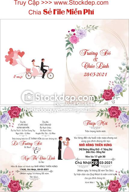 Chia sẻ vector thiệp cưới miễn phí
