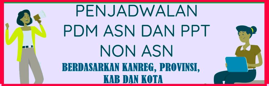 Jadwal Pemutakhiran Data Melalui MYSAPK BKN Per Kabupaten Kota Se Indonesia