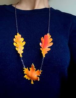 bijuterii cu frunze toamna