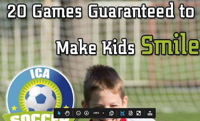 Junior soccer games for kids. Pdf file