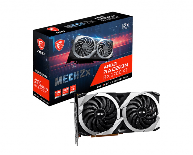 MSI Radeon RX 6700 XT Mech 2x