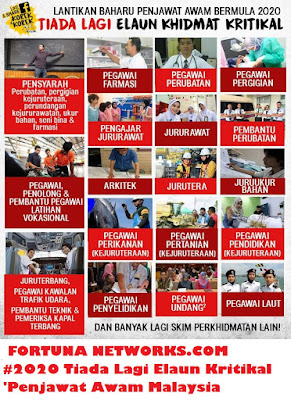"<img src=""FortunaNetworks.Com.jpg"" alt=""#PascaGE14 [Part 5] #2020 Tiada Lagi Elaun Kritikal 'Penjawat Awam Malaysia Bertambah Malang"">"