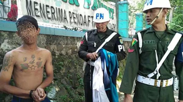 Memalukan!!! Kisah Siswa SMP Bertato dan Ugal-Ugalan Mewek Saat Dirazia Polisi Militer