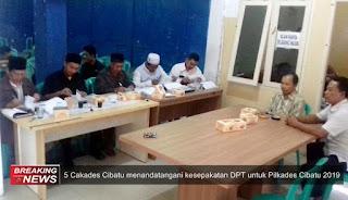 5 orang cakades Cibatu pada pilkades 2019-2025