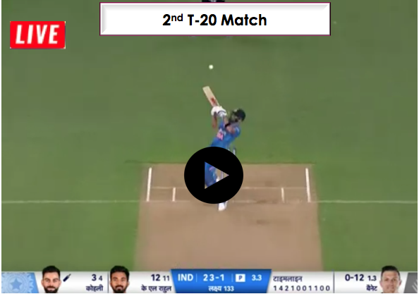 India vs NewZealand - 2nd T-20  match, 15 December, India is chasing 132 run