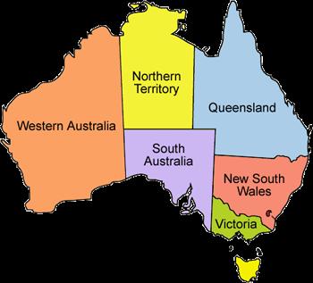 Australia Map 6 States.Travel Army Easy Path To Queensland Australia