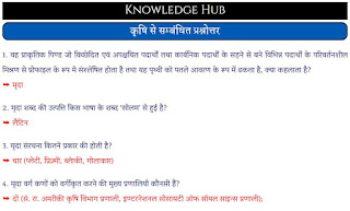agriculture questions in hindi