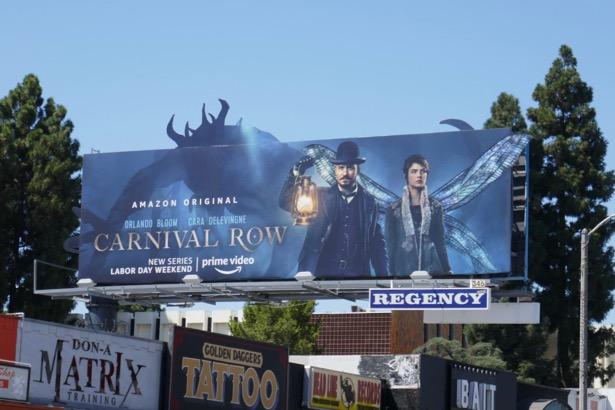 Carnival Row series launch billboard