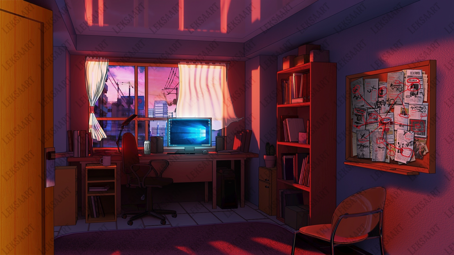 anime background bedroom