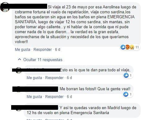 vuelos de repatriación argentina