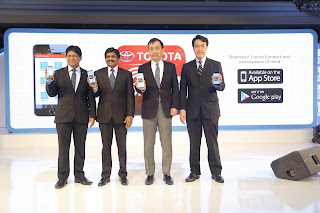TOYOTA CONNECT' smartphone app based Connected services