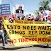 Valverdenses marchan contra la haitianización del Territorio Dominicano