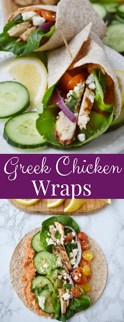Greek Chicken Wraps recipe