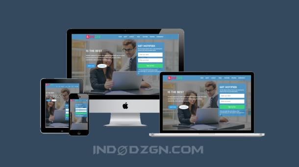 download template shezan landingpage, template landingpage responsive, landing page premium blogger template